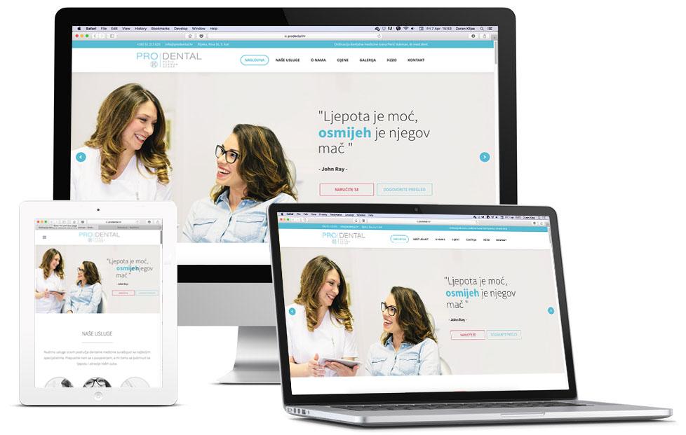 Izrada web stranice za stomatološku ordinaciju