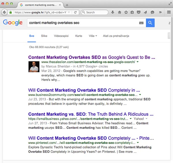 Content marketing overtakes SEO