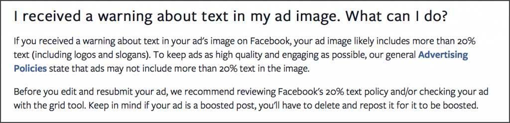 Facebook oglas pravilo 20%