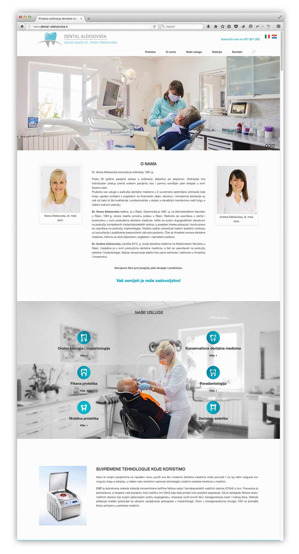dental web stranica