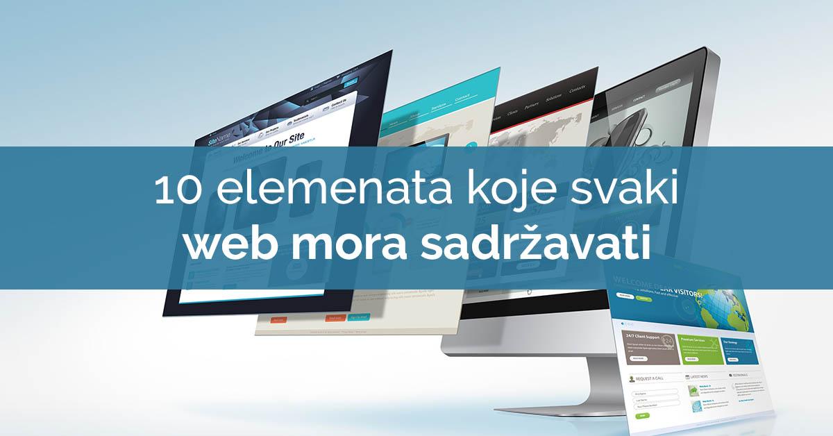 10 elemenata koje svaka web stranica mora sadrzavati