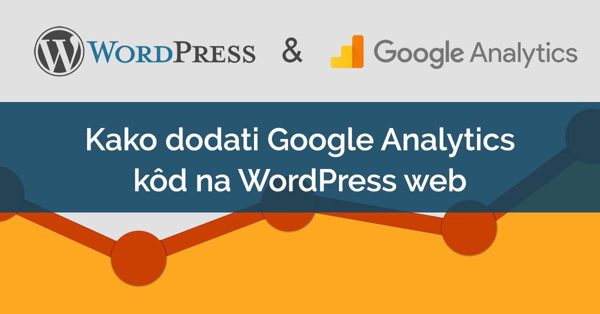 wordpress web google analytics kod