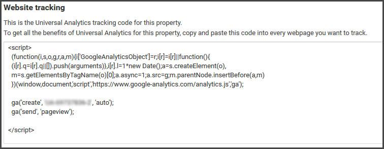 analtics tracking code kopirati u wordpress web